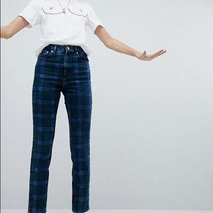 ASOS Plaid jeans